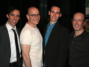Kevin Cahoon, Peter Friedman, Cory Michael Smith and Steve Routman