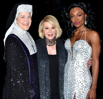 Victoria Clark, Joan Rivers, and Patina Miller