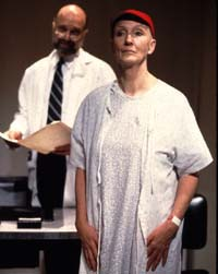 Kathleen Chalfant with Walter Charlesin the New York production of Wit