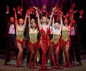 Sutton Foster and cast of Anything Goes (© Joan Marcus)