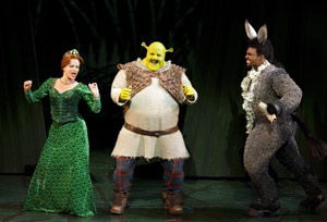 Amanda Holden, Nigel Lindsay, and Richard Blackwood