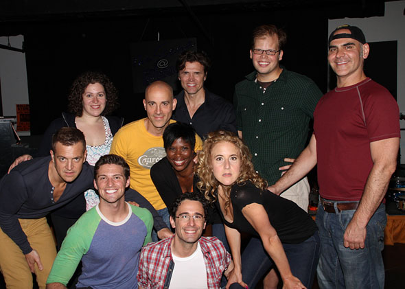The cast of Silence! The Musical with Christopher Gattelli(© Tristan Fuge)