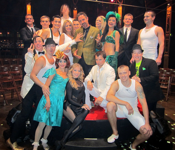 David Arquette and the cast of Absinthe