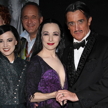 Bebe Neuwirth, Roger Rees and the cast of Addams Family