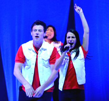 Cory Monteith, Jenna Ushkowitz, and Lea Michele