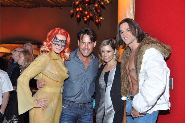 Ricky Paull Goldin and Gretta Monahan with Zumanity cast members