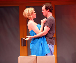 Maddie Corman and Jim Stanek in Desperate Writers