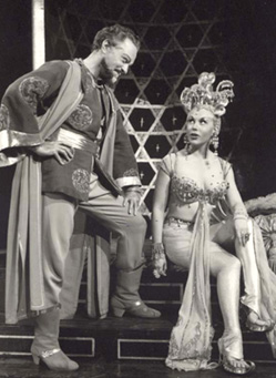 Arabian nights:Alfred Drake and Joan Diener in Kismet(Photo courtesy of Albert Marre)