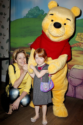 Eddie Falco with daughter Macy and Winnie the Pooh