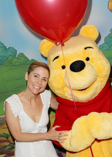 Kerry Butler with Winnie the Pooh