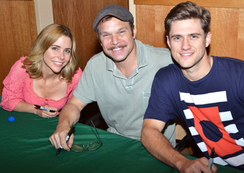 Kerry Butler, Norbert Leo Butz, and Aaron Tveit