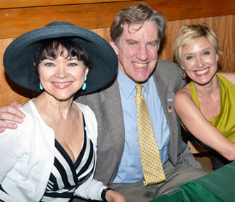 Linda Hart, Nick Wyman, and Rachel de Benedet