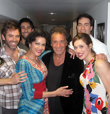 Al Pacino with the cast of Manipulation