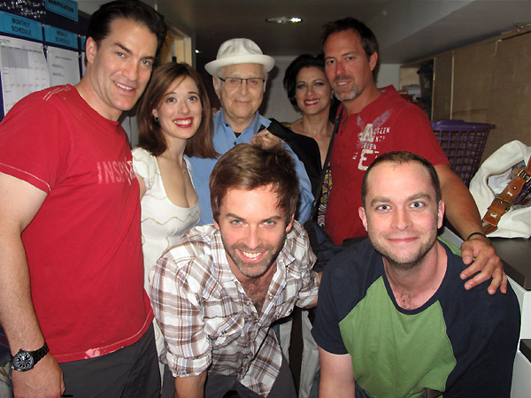 Norman Lear with the cast of Manipulation