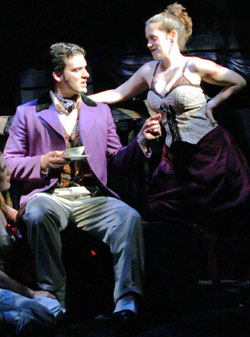 Chad A. Suitts and Sara Mayer inThe Threepenny Opera(Photo © Gerry Goodstein)