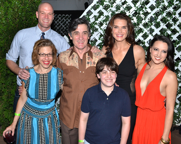 Zachary James, Jackie Hoffman, Roger Rees, Adam Riegler, Brooke Shields, and Rachel Potter