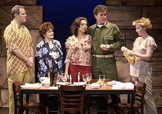 A.J. Irvin, Alice Evans, Jill Abramovitz,George Dvorsky, and Erin Maguire in Suddenly Hope(Photo © Eric Weber)