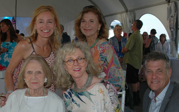 Back Row: Tracy Mitchell and Adrienne Cohen Front Row: Sybil Christopher, Blythe Danner, and Murphy Davis. (© Barry Gordin)