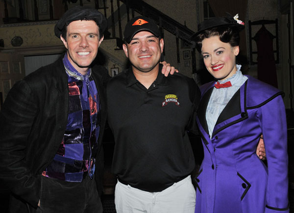 Gavin Lee, Sergeant First Class Leroy Petry, and Ashley Brown