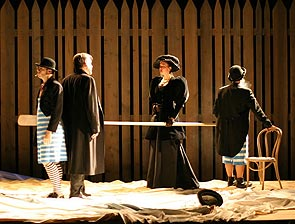 Robert Olinger, Stephen Pelinski, Elisabeth Waterston,and Trey Burvant in Lady with a Lapdog(Photo © Richard Feldman)