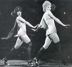Some audiences ain't got no class:Gwen Verdon (right, with Chita Rivera)was snubbed by a Chicago crowd