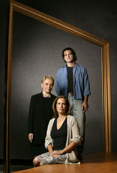Dana Reeve, Roberta Maxwell,and Matte Osian in Portraits(Photo © Joan Marcus)