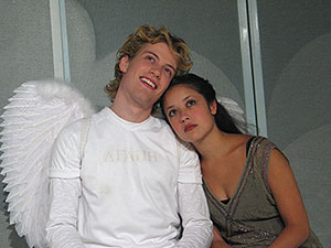 Barrett Foa and Deborah Lew are Cupid and Psyche