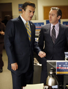 Chris Noth and Alan CumminginThe Good Wife
