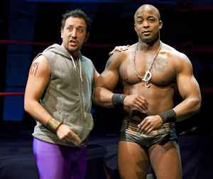 Desmin Borges and Terence Archie in the NYC production of The Elaborate Entrance of Chad Deity (© Joan Marcus)