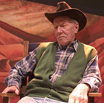 Crandall Diehl as the Old Man inBrooklyn College's Fool For Love