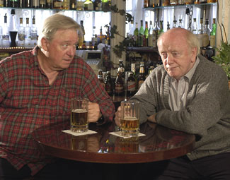 Guy Boyd and Peter Maloney in Four Beers(Photo © Richard Termine)
