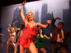 Tamzin Outhwaite and company in Sweet Charity