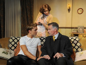 Emryhs Cooper, Olivia d'Abo, and Ian Buchanan in Entertaining Mr. Sloane (Courtesy of the company)
