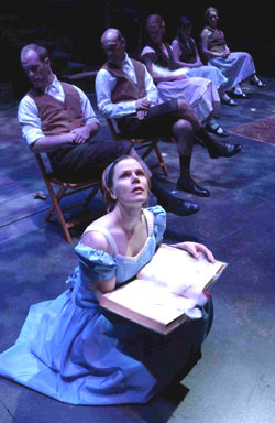Laura Eason and the cast ofThe Secret in the Wings(Photo © Michael Brosilow)