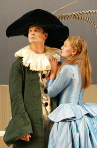 Bill Irwin and Marin Irelandin The Harlequin Studies(Photo © Carol Rosegg)
