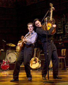 Robert Britton Lyons and Lance Guestin Million Dollar Quartet (© Joan Marcus)