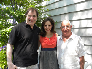 Richard Kind, Emily Shoolin, and Michael Tucker