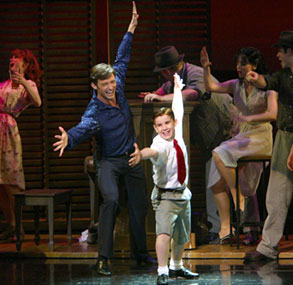 Hugh Jackman and Mitchell David Federanin The Boy From Oz(Photo © Joan Marcus)