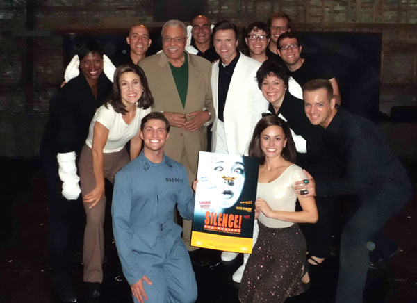 James Earl Jones with the cast of Silence! The Musical