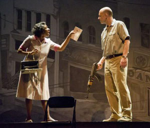 Aisha Hinds and John Bedford Lloyd
