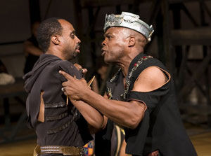 Glenn Gordon and Ty Jones in Henry V