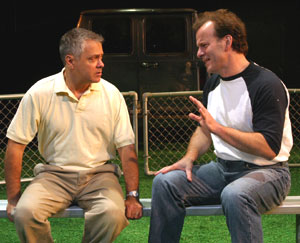 Matthew Arkin and Robert Clohessy in Rounding Third(Photo © Bruce Glikas)