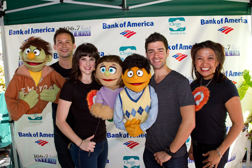 Jed Resnick,Veronica J. Kuehn, Adam Kantor,  and Hazel Anne Raymundo from Avenue Q