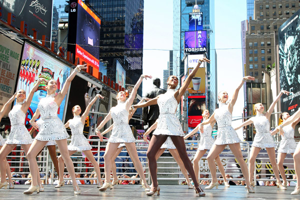 The Radio City Rockettes perform Christmas in August