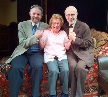 Tuck Milligan, Dr. Ruth Westheimer, and Martin Rayner