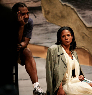 Norm Lewis and Audra McDonald in rehearsal forThe Gershwin's Porgy & Bess (© Anastasia Korotich)