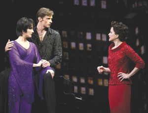 Stephanie J. Block, Hugh Jackman, and Isabel Keatingin The Boy From Oz(Photo © Joan Marcus)