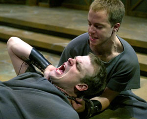David Harbour and Graham Hamiltonin The Two Noble Kinsmen(Photo © Michal Daniel)