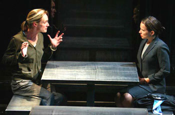 Lisa Emery and Jennifer Dundas in Iron(Photo © Joan Marcus)