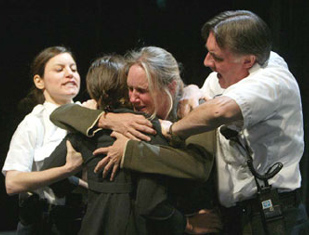 Susan Pourfar, Jennifer Dundas, Lisa Emery,and John Curless in Iron(Photo © Joan Marcus)